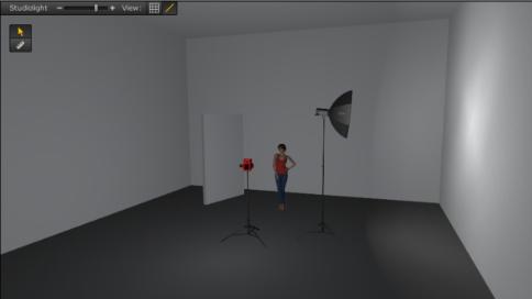 摄影棚的灯光使用之三点布光