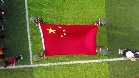 良渚职业高级中学运动会航拍视频