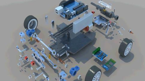 机械拆解动画