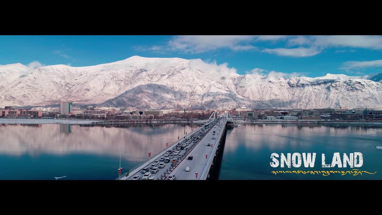 2018年西藏拉薩航拍雪景