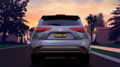 丰田汽车:致敬《摩登家庭》动画