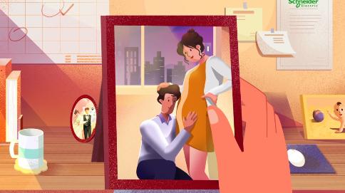《施耐德新生儿祝福男员工篇》MG动画——安戈力文化