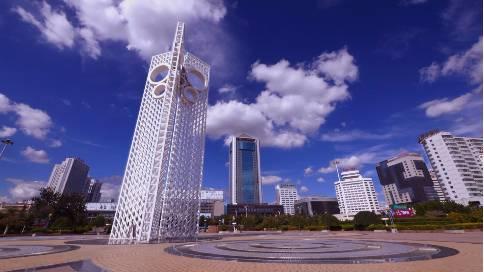 潍坊 城市风光片 延时摄影