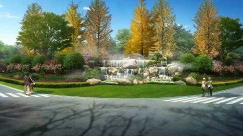 三维建筑动画景观绿化展示——华之门易居易墅