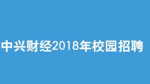 中兴2018年校招片(快闪)