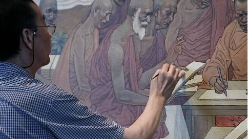 牛首山《佛教史上的六次经典结集》壁画诞生记
