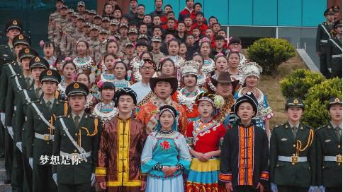 贵州高校学校快闪MV我和我的祖国制作拍摄公司案例作品-贵州工商职业学院MV