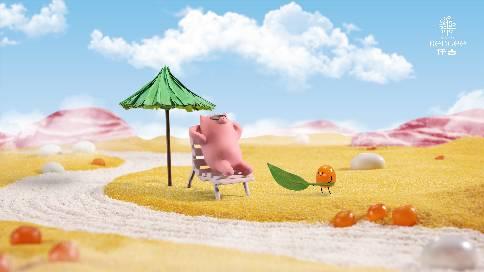 一只过得比你还好的猪!仟吉端午节定格动画广告~