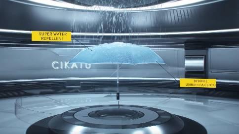 CIKATU 自动晴雨伞三维特效宣传片