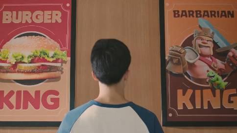 汉堡王《餐垫上的部落冲突》