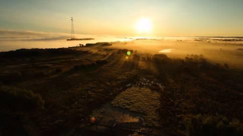 晨曦中的黑龙江