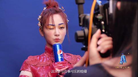 【杨紫】百事可乐广告拍摄幕后花絮