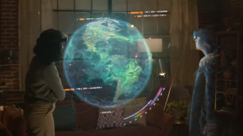 微软混合现实设备Mesh预告片:未来就在这里