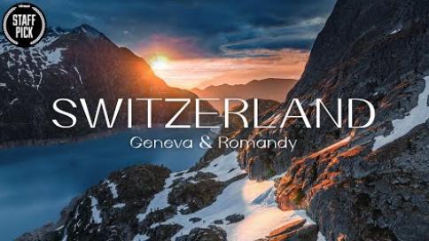 延时大片:瑞士日内瓦和罗曼迪风光