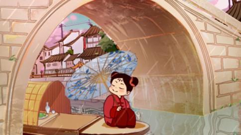 手绘动画-动态海报-清明节