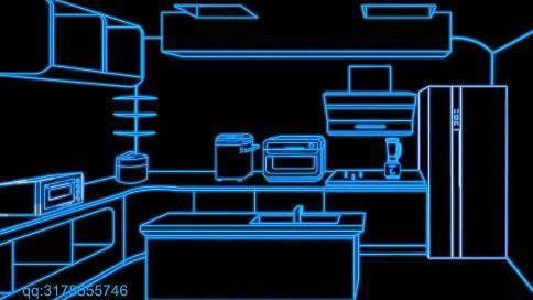 科技生活线条科技动画带您走进科技生活